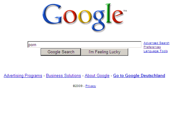 Google Suggest: Porn