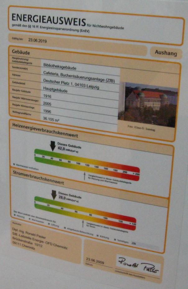 Energieausweis Deutsche Nationalbibliothek