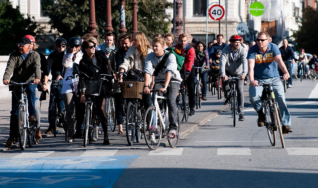 Viele Radfahrer in Kopenhagen