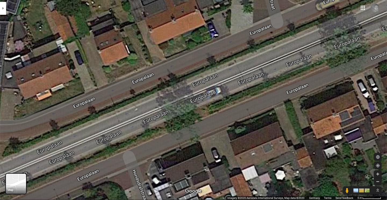 Luftbild einer Straße in Nuenen by Eindhoven